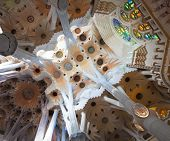 BARCELONA, SPAIN - APRIL 29: Sagrada Familia is a large Roman Catholic church in Barcelona, Spain, d