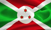 picture of burundi  - flag of Burundi waving in the wind - JPG