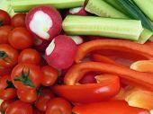 Cucumber, Tomato, Garden Radish, Paprika