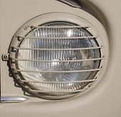 Headlight  With Protective Grid Closeup
