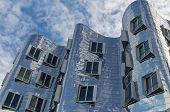 DUSSELDORF, GERMANY - NOVEMBER10 2014: Der Neuer Zollhof facade