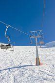 Ski Lift On Ski Resort