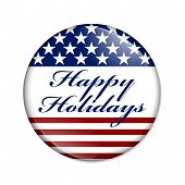 Happy Holidays Usa Button