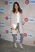 LOS ANGELES - NOV 12:  Jessica Alba arrives to the TOMS for Target Partnership Celebration on November 12, 2014 in Culver City, CA