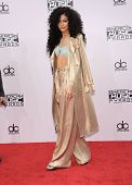 LOS ANGELES - NOV 23:  Zendaya Coleman arrives to the 2014 American Music Awards on November 23, 2014 in Los Angeles, CA