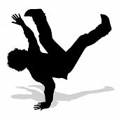 dancer of hip hop silhouette