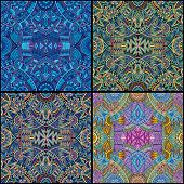tribal ethnic seamless pattern set