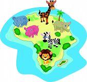African animal cartoon