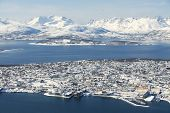 pic of tromso  - Aerial view to the city of Tromso - JPG