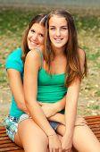 Two Teenage Girls Having Fun