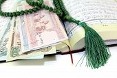 Whipped Quran With Afghanistanischer Currency