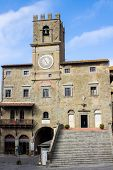 The Town Hall In Cortona City Center