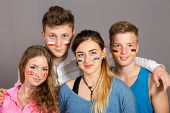 International group of teenagers