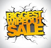 Wipeout sale banner.