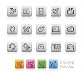 Communication Icons // Outline Buttons - Each color in a layer. To see the desired color, you need to make it visible in the layer panel -- EPS 10+ Contain Transparencies