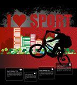 Poster of BMX. Sport vector illustration