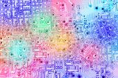 Colourful Abstract Background of Electronic Circuit