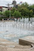 TAIPEI, TAIWAN - November 16th : Vivid water dance fountain near Longshan Temple, Taipei, Taiwan on November 16th, 2014.