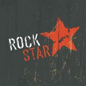 Rock Star Illustration. Raster version