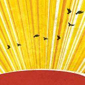 Retro Sunrays Background. Raster version