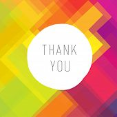 Thank you card colorful. Raster version