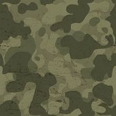 Military camouflage seamless pattern. Raster version