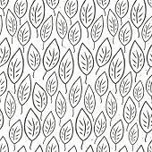 Seamless leaves pattern. Raster version