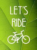 Ecology bicycle poster illustration. Raster version