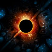 stock photo of gravity  - Supermassive black hole in the universe - JPG