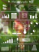 Wine blurred infographics