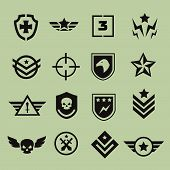 picture of army  - Military symbol army icons vector black isolated - JPG