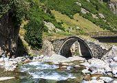 Small Bridge On The Plateau Kackar In Turkey