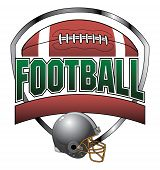 stock photo of football  - Illustration of a football design which includes a football - JPG