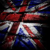 grunge brick of england flag