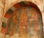 Fresco Of Saint Nicholas Church ,turkey