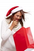 Happy Vivacious Christmas Shopper