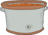 Crock Pot With Food