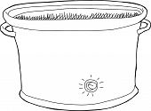 Empty Slow Cooker Outline