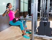 picture of lats  - Cable Lat pulldown machine woman workout at gym exercise - JPG