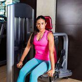 Dips press machine for triceps woman sit workout gym