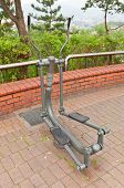 Exercise Machine Stepper In Naksan Park Of Seoul, Korea