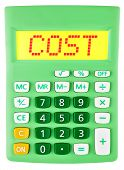 Calculator With Cost On Display
