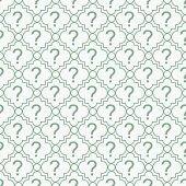 Green And White Question Mark Symbol Pattern Repeat Background