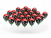 Balloons With Flag Of Libya