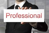 Businessman Showing Sign Professional