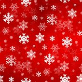 Light Red Snowflakes