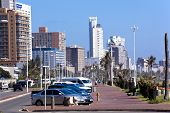 Residential Buildings And Hotels Along Durban Beach Front