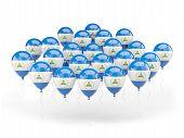 Balloons With Flag Of Nicaragua