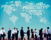 image of productivity  - Productivity Vision Idea Efficiency Growth Success Solution Concept - JPG