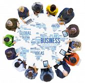 stock photo of enterprise  - Business Global World Plans Organization Enterprise Concept - JPG